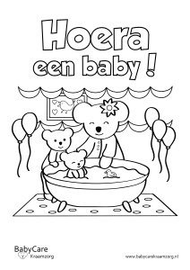 Kleurplaten Baby Born.Colouring Pages Babycare Kraamzorg